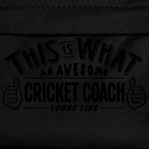 awesome cricket coach looks like pro des t-shirt - Kids' Backpack