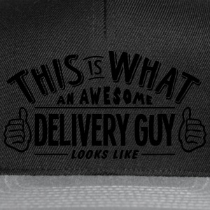 awesome delivery guy looks like pro desi t-shirt - Snapback Cap