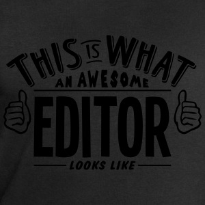awesome editor looks like pro design t-shirt - Men's Sweatshirt by Stanley & Stella