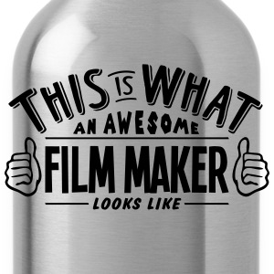 awesome film maker looks like pro design t-shirt - Water Bottle
