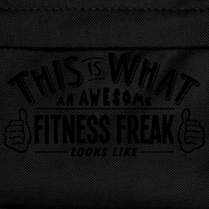 awesome fitness freak looks like pro des t-shirt - Kids' Backpack