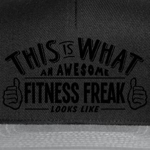 awesome fitness freak looks like pro des t-shirt - Snapback Cap
