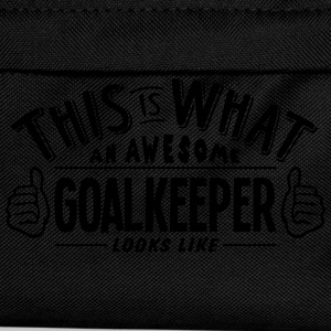 awesome goalkeeper looks like pro design t-shirt - Kids' Backpack