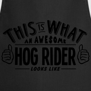 awesome hog rider looks like pro design t-shirt - Cooking Apron