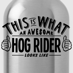 awesome hog rider looks like pro design t-shirt - Water Bottle