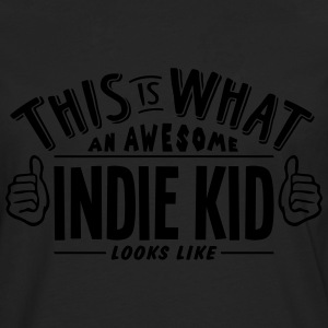 awesome indie kid looks like pro design t-shirt - Men's Premium Longsleeve Shirt