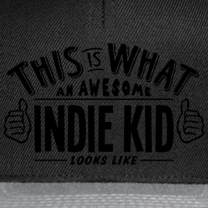 awesome indie kid looks like pro design t-shirt - Snapback Cap