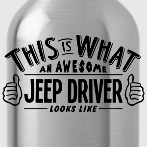 awesome jeep driver looks like pro desig t-shirt - Water Bottle