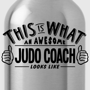 awesome judo coach looks like pro design t-shirt - Water Bottle