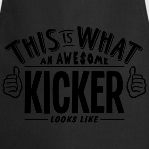 awesome kicker looks like pro design t-shirt - Cooking Apron
