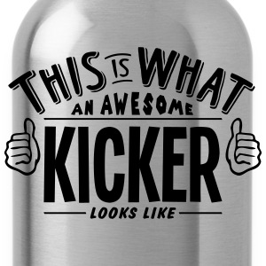 awesome kicker looks like pro design t-shirt - Water Bottle