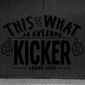 awesome kicker looks like pro design t-shirt - Snapback Cap
