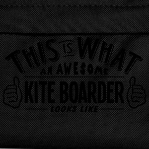 awesome kite boarder looks like pro desi t-shirt - Kids' Backpack