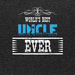 World's Best Uncle Ever Shirts - Snapback Cap