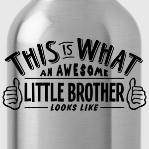 awesome little brother looks like pro de t-shirt - Water Bottle