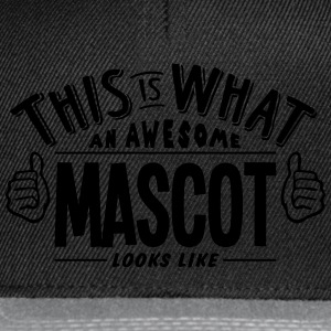 awesome mascot looks like pro design t-shirt - Snapback Cap