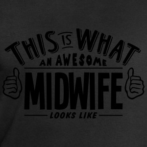 awesome midwife looks like pro design t-shirt - Men's Sweatshirt by Stanley & Stella