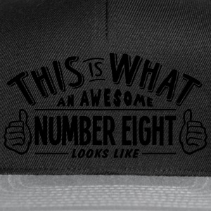 awesome number eight looks like pro desi t-shirt - Snapback Cap