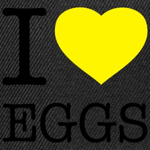 I LOVE EGGS - Snapback Cap
