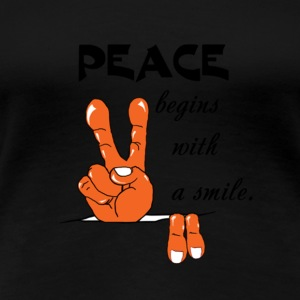 Peace and Love Symbol - Women's Premium T-Shirt