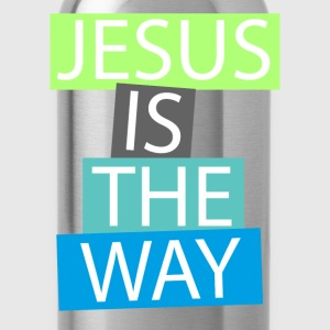 Jesus is the way Langarmshirts - Trinkflasche