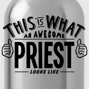 awesome priest looks like pro design t-shirt - Water Bottle
