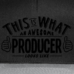 awesome producer looks like pro design t-shirt - Snapback Cap