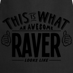 awesome raver looks like pro design t-shirt - Cooking Apron
