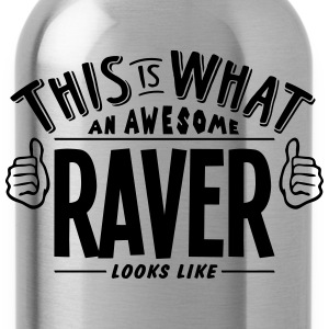 awesome raver looks like pro design t-shirt - Water Bottle
