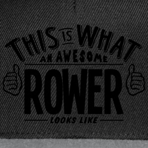 awesome rower looks like pro design t-shirt - Snapback Cap