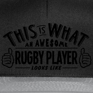 awesome rugby player looks like pro desi t-shirt - Snapback Cap