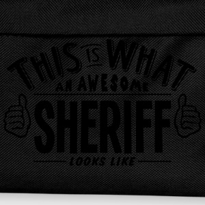 awesome sheriff looks like pro design t-shirt - Kids' Backpack