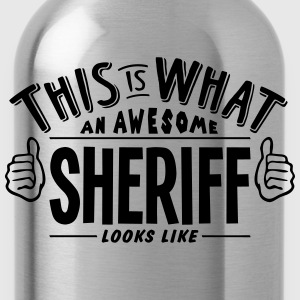 awesome sheriff looks like pro design t-shirt - Water Bottle