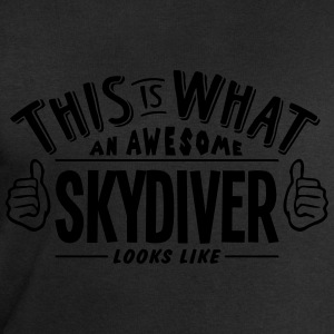 awesome skydiver looks like pro design t-shirt - Men's Sweatshirt by Stanley & Stella