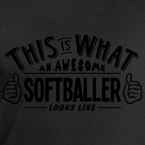 awesome softballer looks like pro design t-shirt - Men's Sweatshirt by Stanley & Stella