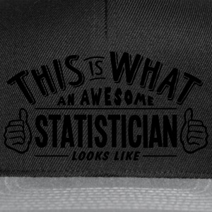 awesome statistician looks like pro desi t-shirt - Snapback Cap
