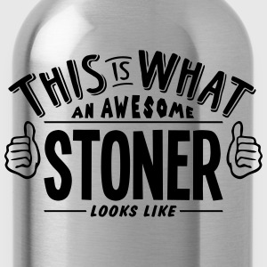 awesome stoner looks like pro design t-shirt - Water Bottle