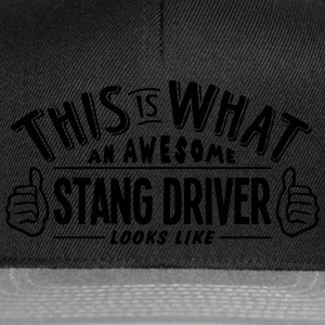 awesome stang driver looks like pro desi t-shirt - Snapback Cap