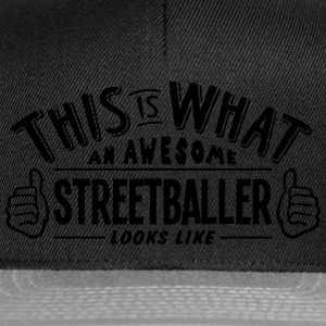 awesome streetballer looks like pro desi t-shirt - Snapback Cap