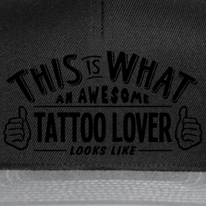 awesome tattoo lover looks like pro desi t-shirt - Snapback Cap