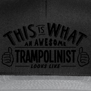 awesome trampolinist looks like pro desi t-shirt - Snapback Cap