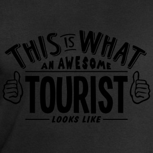 awesome tourist looks like pro design t-shirt - Men's Sweatshirt by Stanley & Stella