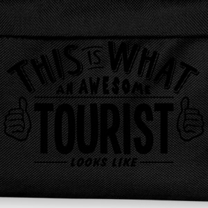 awesome tourist looks like pro design t-shirt - Kids' Backpack