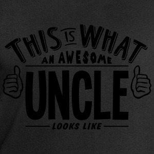 awesome uncle looks like pro design t-shirt - Men's Sweatshirt by Stanley & Stella