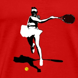 Tennis player backhand silhouette Sports wear - Men's Premium T-Shirt