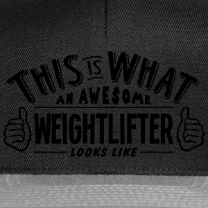 awesome weightlifter looks like pro desi t-shirt - Snapback Cap
