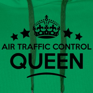 air traffic control queen keep calm styl WOMENS T- - Men's Premium Hoodie