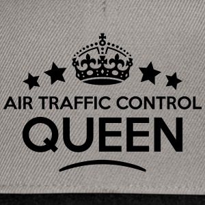air traffic control queen keep calm styl WOMENS T- - Snapback Cap