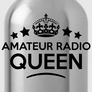 amateur radio queen keep calm style WOMENS T-SHIRT - Water Bottle
