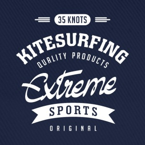 35 Knots Kitesurfing White Design - Baseball Cap